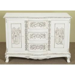 Biała komoda 120 cm szafka rokoko barok