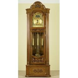 Corner grandfather clock longcase pendulum
