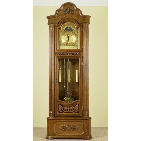Narożny zegar stojący drewniany