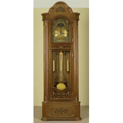 Narożny zegar stojący dębowy