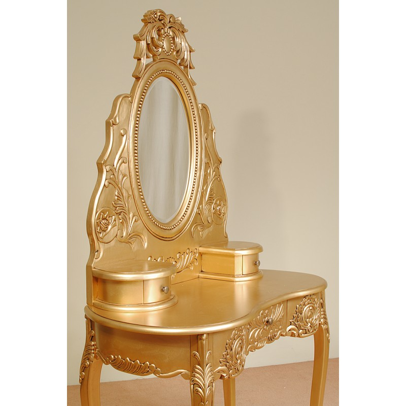 Gold Rococo Dresser Dressing Table Baroque Livetime Pl
