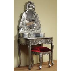 Srebrna toaletka rzeźbiona barok rokoko