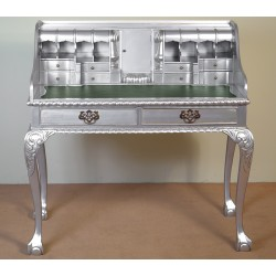 Sekretarzyk biurko Chippendale srebrny