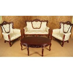 Sofa + 2 armchairs set baroque rococo
