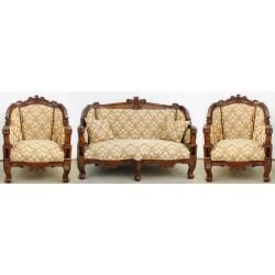 Komplet wypoczynkowy kanapa + 2 fotele barok rokoko