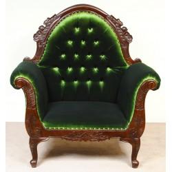 Fotel tron Chesterfield welur