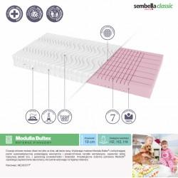 Memory foam mattress 80x200 cm Sembella Modulia Bultex