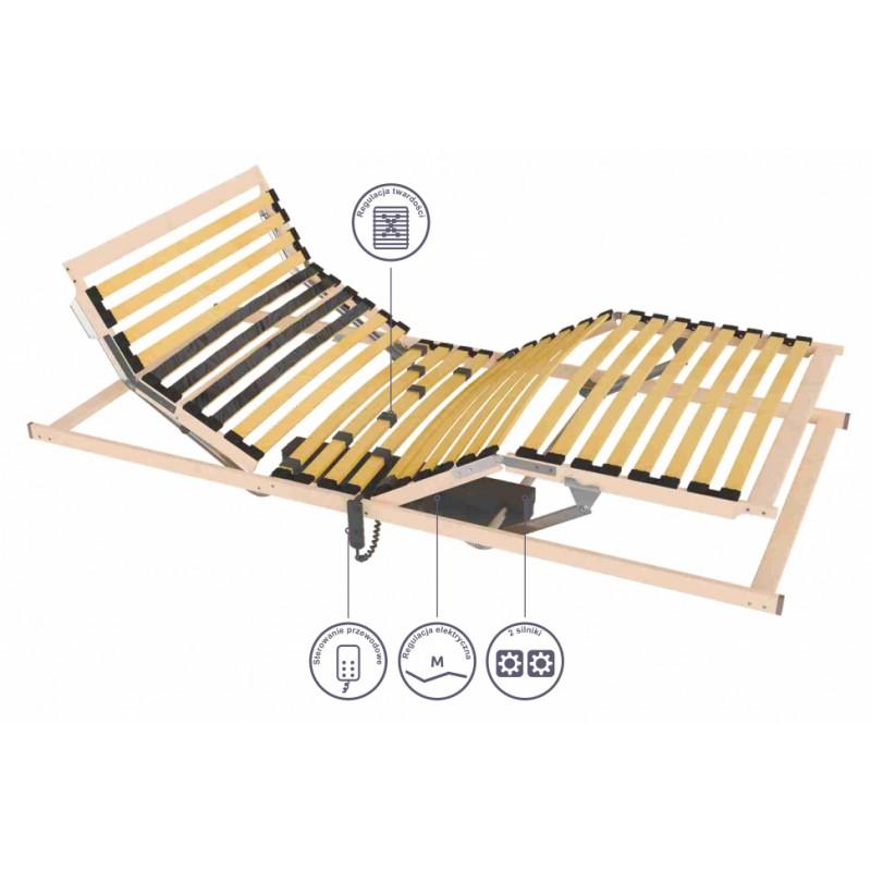 Stelaż Do łóżka 90x200 Cm Automatyczny Elektryczny Sembella Futura M