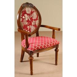 Krzesło rzeźbione fotel ludwik