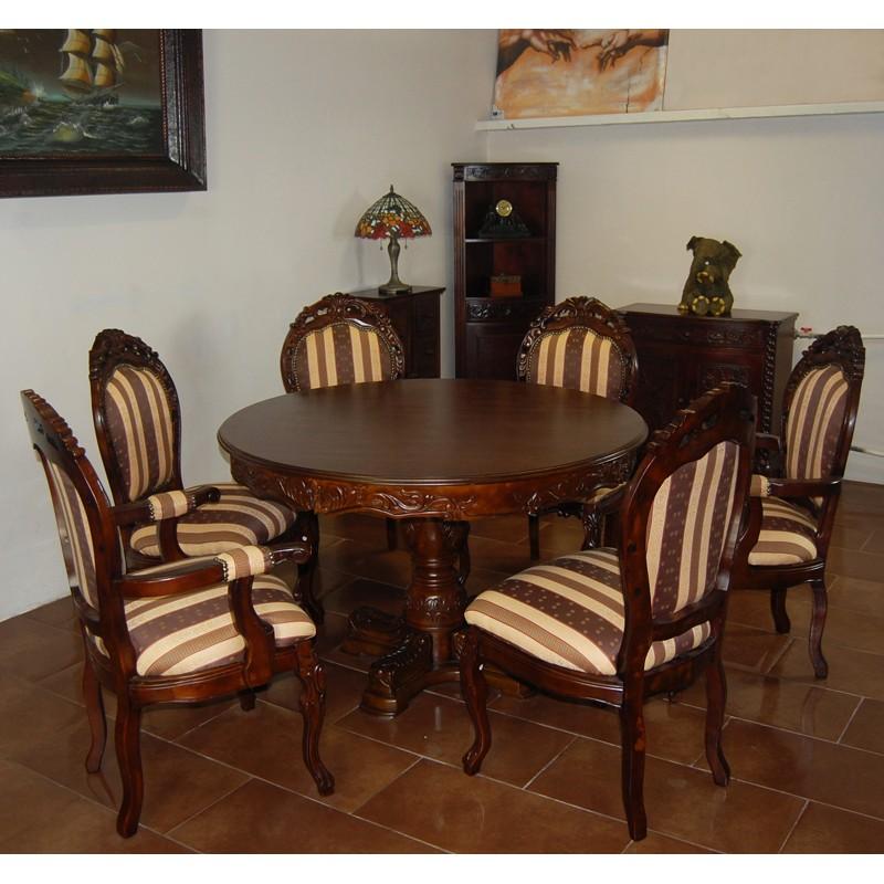 esstisch 120 cm runde louis. Black Bedroom Furniture Sets. Home Design Ideas