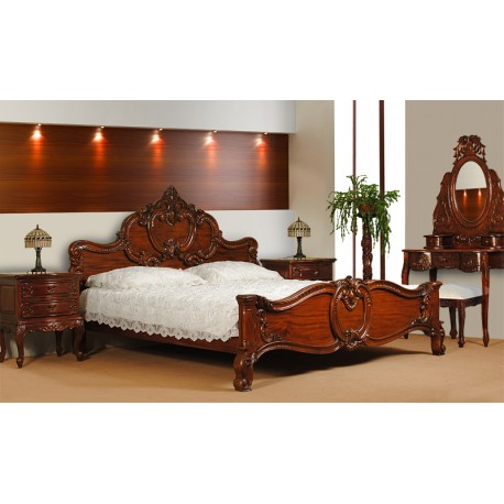 rokoko barock bett 180x200 cm. Black Bedroom Furniture Sets. Home Design Ideas