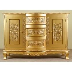 Zlatá stylová komoda 120 cm