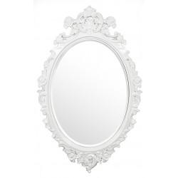 Stylowe lustro rzeźbione białe barok rokoko