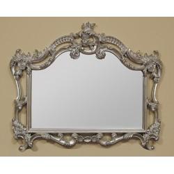 Stylowe lustro rzeźbione srebrne
