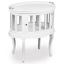 Bílý čajový stolek