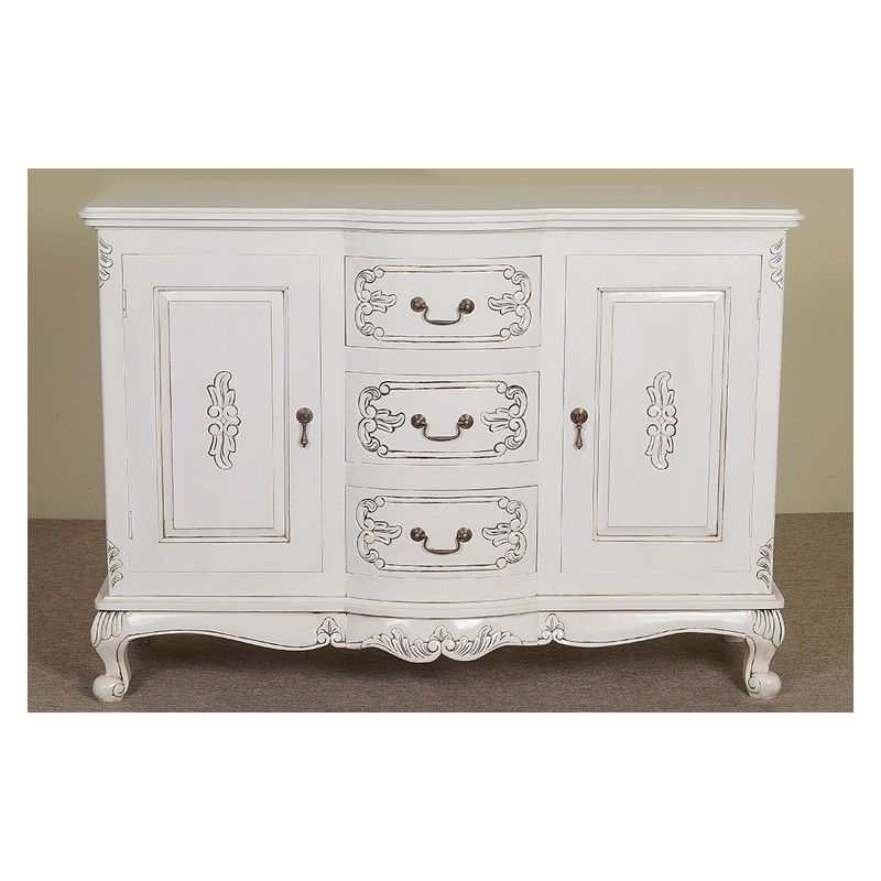 White Rococo Baroque Commode Sideboard 120 Cm Livetime Pl