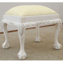 White stool Chippendale