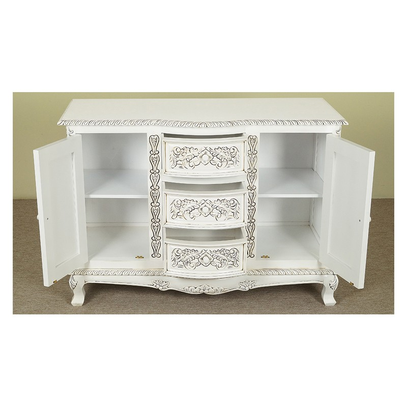 white rococo baroque commode sideboard 120 cm. Black Bedroom Furniture Sets. Home Design Ideas