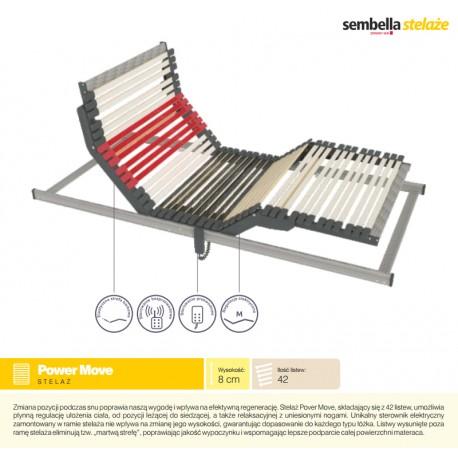 Stelaż Do łóżka 90x200 Cm Automatyczny Elektryczny Sembella Power Move Livetimepl