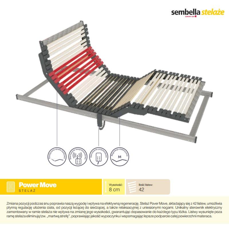 Stelaż Do łóżka 90x200 Cm Automatyczny Elektryczny Sembella Power Move