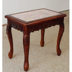 Plant stand with marble top