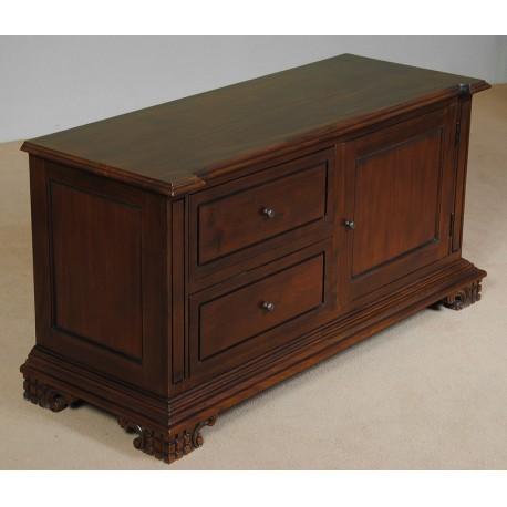 tv kommode 120 cm schrank kolonialstil. Black Bedroom Furniture Sets. Home Design Ideas