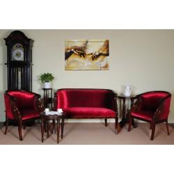 Komplet wypoczynkowy kanapa + 2 fotele łabędź empire