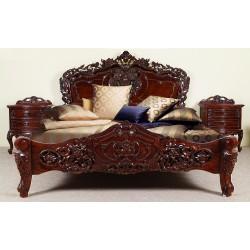 Rococo baroque bed