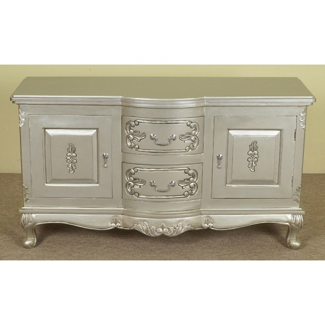 silver rococo baroque tv commode stand 120 cm. Black Bedroom Furniture Sets. Home Design Ideas