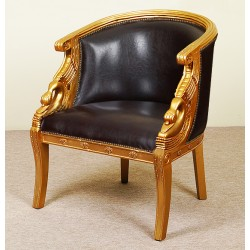 Gold swan armchair empire style