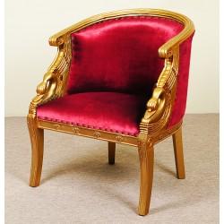 Złoty fotel łabędź empire