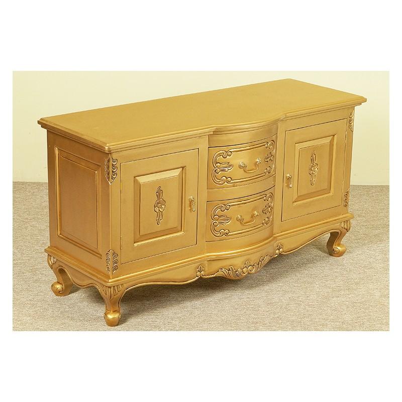 gold tv kommode schrank tisch 120 cm rokoko barock. Black Bedroom Furniture Sets. Home Design Ideas