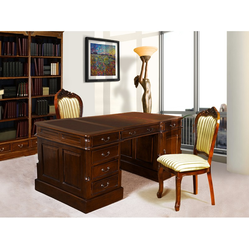 englisch schreibtisch partnerdesk 180 cm livetimepl. Black Bedroom Furniture Sets. Home Design Ideas