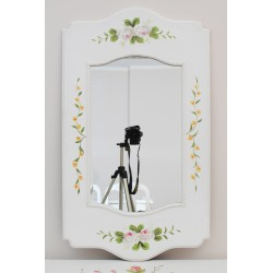 Louis mirror with painted flowers