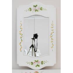 Weißer louis Spiegel mit gemalten Blumen
