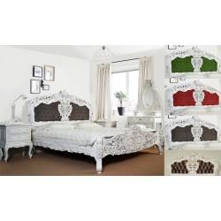 Weiss rokoko barok Bett 160x200 cm 78246