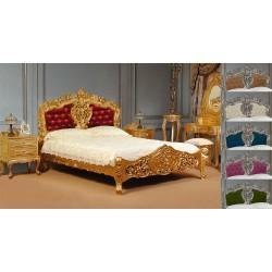 Gold rococo baroque bed