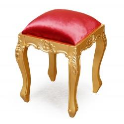 Złoty taboret rzeźbiony ludwikowski