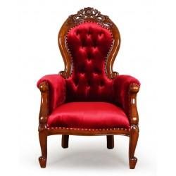 Fotel ludwikowski Chesterfield welur