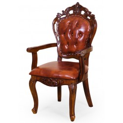 Dining chair with armrests leatherette louis baroque rococo