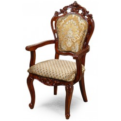Dining chair with armrests louis baroque rococo