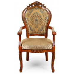 Dining chair with armrests louis baroque