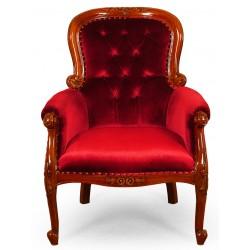 Armchair XXL louis Chesterfield velvet fabric