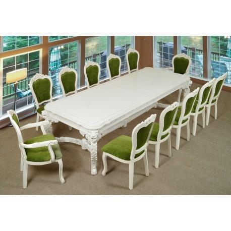 Biały stół lwie nogi empire 300 cm