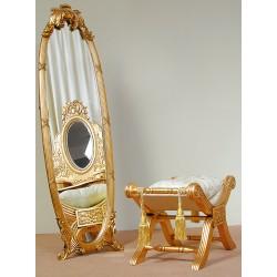Ludwikowskie lustro stojące rzeźbione