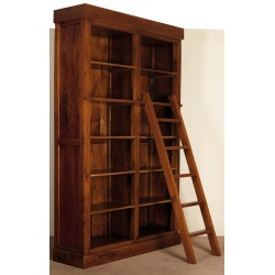 Colonial bookcase library with ladder