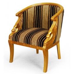 Gold Schwan Sessel Sitzbank empire