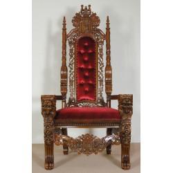 Tron fotel królewski lwie nogi