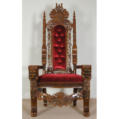 Lion king wedding throne chair armchair