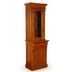 Colonial library glass cabinet